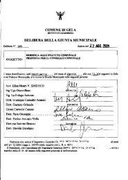 DELIBERA DELLA GIUNTA MUNICIPALE - Comune di Gela