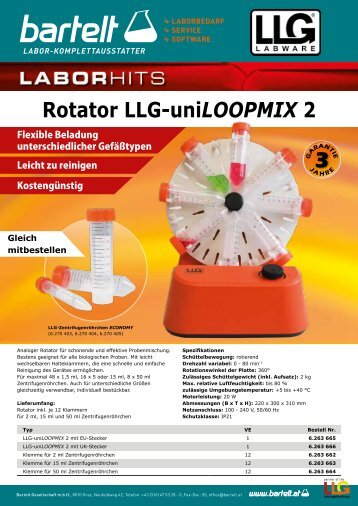 Flyer of the week: Rotator LLG uniLOOPMIX 2