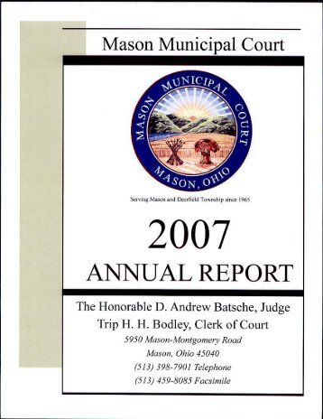 annual report 2008 - Mason Municipal Court