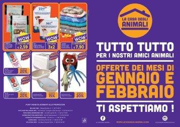 Volantino La Casa degli Animali Gennaio/Febbraio
