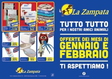 Volantino La Zampata Gennaio/Febbraio