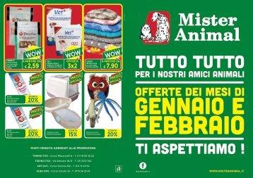 Volantino Mister Animal Gennaio/Febbraio