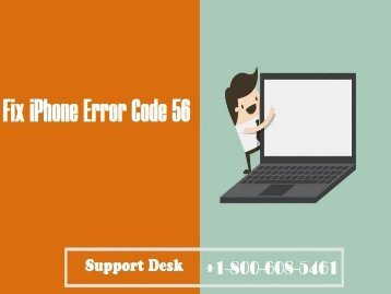 1-800-608-5461 How To Fix iPhone Error Code 56?