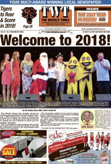 The Weekly Times - 10th January, 2018