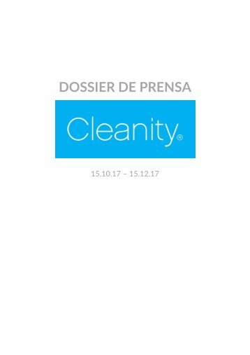 Dossier Cleanity 15.10.17 - 15.12.17