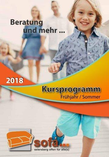SOFA-PROGRAMM Frühjahr-Sommer 2018
