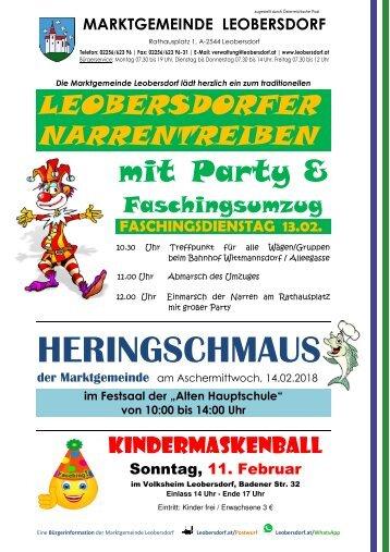 Postwurf Jänner 2018 / Marktgemeinde Leobersdorf