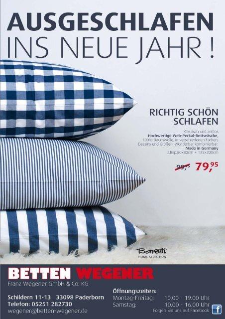 Ausgeschlafen Ins Neue Jahr Betten Wegener Paderborn