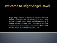 Book Cheap Flights From London To Bombay- BrightAngel Travel
