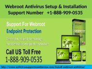 Webroot Antivirus Installation Support 1-888-909-0535 Number