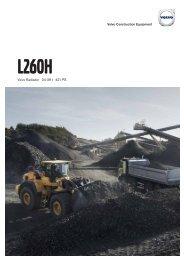 Volvo Radlader L260H Datenblatt Produktbeschreibung
