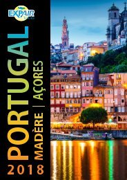 Brochure Portugal - Madère - Açores 2018