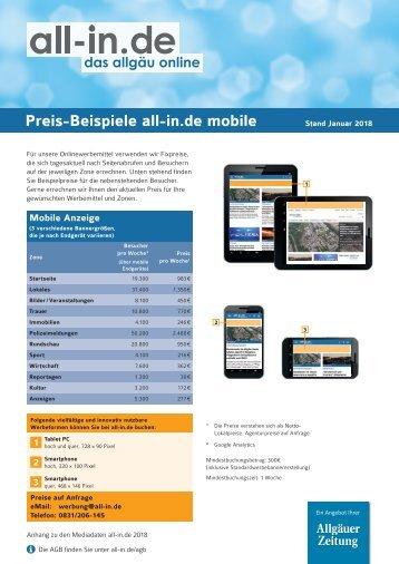 Preis-Beispiele Mobile