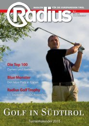 Radius Golf 2015