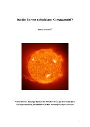 Ist die Sonne schuld am Klimawandel?