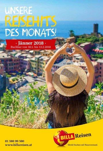 BILLA Reisen Reisehits Jänner 2018