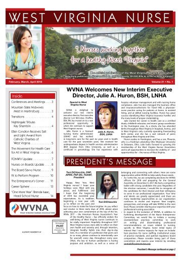 West Virginia Nurse - February 2018