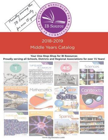 2018 MYP Catalog