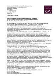 RAV-Fortbildung_Balint_Gruppenarbeit, Arnulf Nuesslein, 18.-20.3 ...
