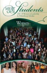 2017-18 Women in Leadership & Philanthropy Scholars
