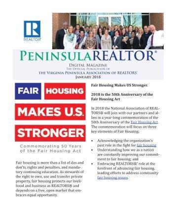 Peninsula REALTOR® January 2018