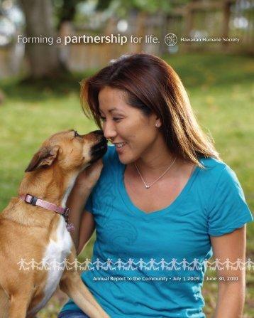 Forming a partnership for life. - Hawaiian Humane Society