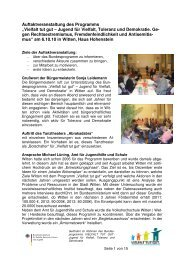 """""""Vielfalt tut gut"""" : Projekte für Toleranz werden ge - Volkshochschule ..."""