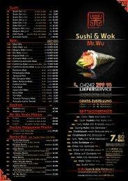 Mr. Wu - Sushi & Wok - Flyer