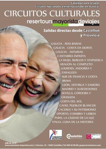 Catalogo Circuitos Culturales Resertours Mayorista 2018