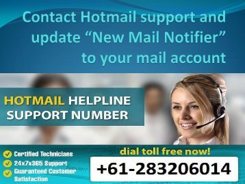 Contact Hotmail support and update