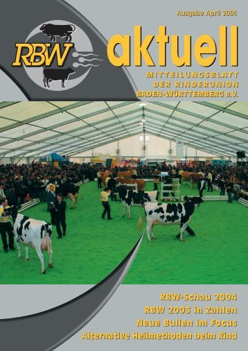 RBW-Aktuell - Rinderunion Baden-Württemberg e.V.