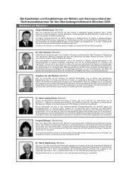 Die Kandidaten und Kandidatinnen der Wahlen zum ...