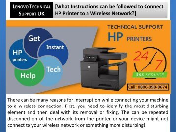 What Instructions can be followed to Connect HP Printer to a Wireless Network?