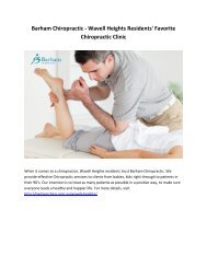 Barham Chiropractic - Wavell Heights Residents Favorite Chiropractic Clinic