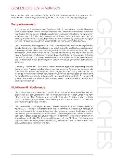 Berufspraktikum Ergotherapie Jahrgang 2015