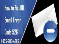 How to fix AOL mail error code 521? 1-855-205-4286 For Help