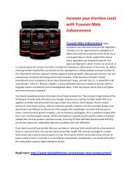 Tryvexin Male Enhancement - Enjoy The Steamy Sex Life Despite Your Age