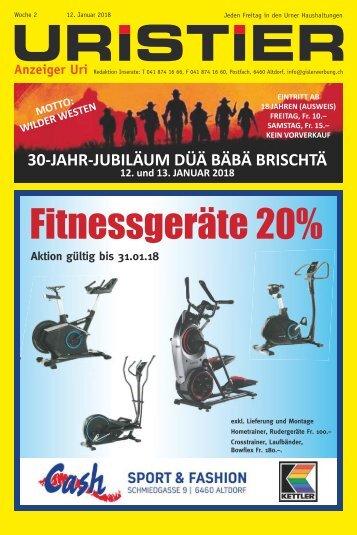 02.2018 Uristier  Der Urner Gratisanzeiger