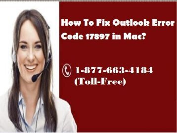 How To Fix Outlook Error Code 17897 in Mac? 18776634184