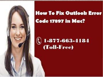 How To Fix Outlook Error Code 17897 in Mac? 18776634184