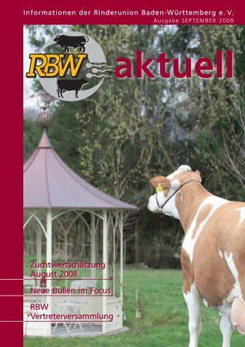 RBW-Aktuell - September 2008 - Rinderunion Baden-Württemberg ...