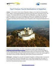 Top 5 Famous Tourist Destinations Places Rajasthan udaipurtaxionline (2)