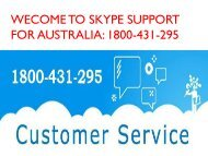 Call Skype Tech Support Number Australia 1800-431-295