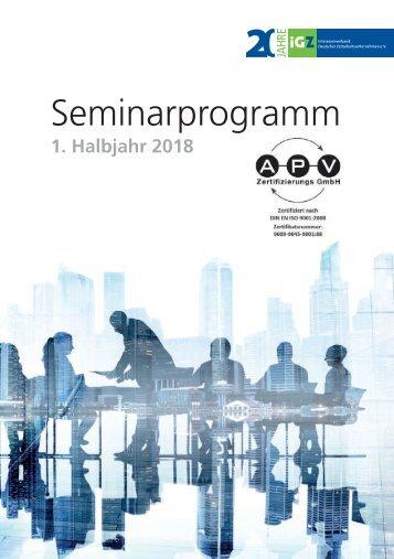 iGZ-Seminarprogramm 01-2018