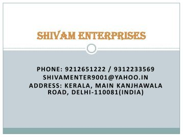 SHIVAM ENTERPRISES PDF