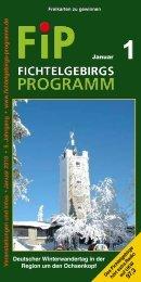 Fichtelgebirgs-Programm - Januar 2018