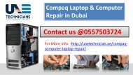 Compaq Computer & Laptop Repair  Services in Dubai Call us @ 0557503724 Any Time
