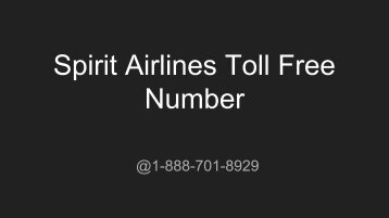 Spirit Airlines Toll Free Number