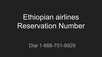 Ethiopian airlines Reservation Number(1)