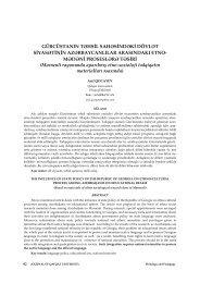 mədəni proseslərə - Journal of Qafqaz University